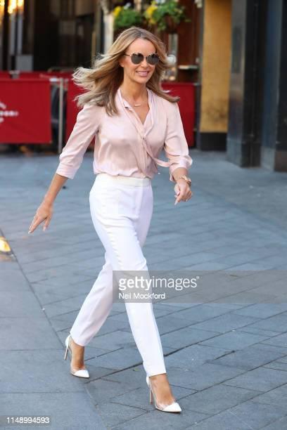 Amanda Holden seen arriving at Heart Breakfast radio studios on May 14 2019 in London England