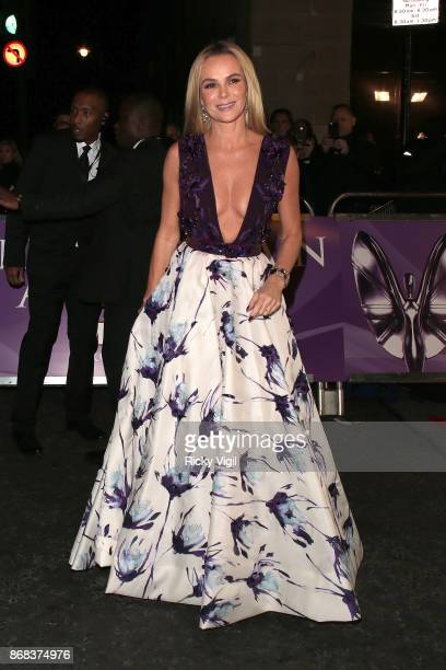 Amanda Holden seen arriving at Pride of Britain Awards at Grosvenor House on October 30 2017 in London England