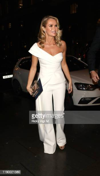 Amanda Holden seen attending Global's Make Some Noise Night Gala at Finsbury Square on November 25, 2019 in London, England.
