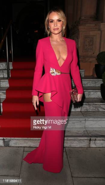 Amanda Holden seen attending The Global Gift Gala London at Kimpton Fitzroy on October 17 2019 in London England