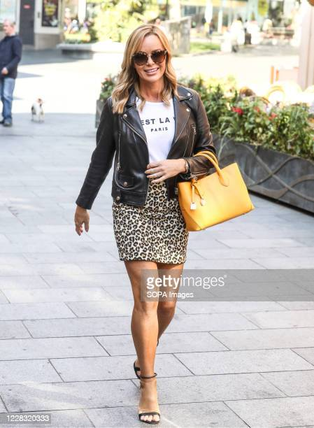 Amanda Holden seen departing The Global Radio Studios In London