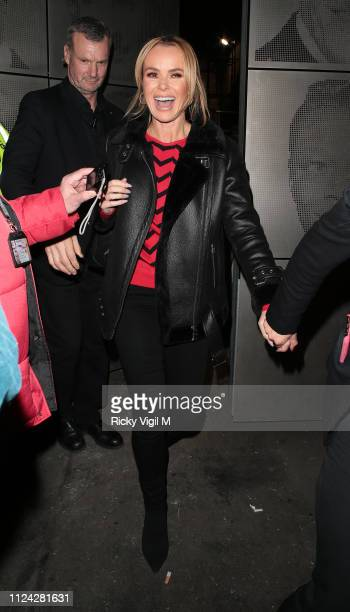 Amanda Holden seen leaving Britain's Got Talent London auditions on January 23 2019 in London England