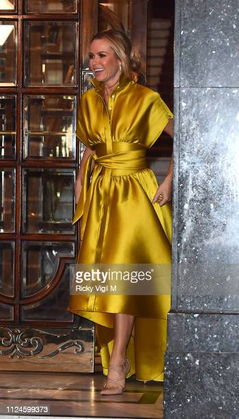 Amanda Holden seen leaving Britain's Got Talent London auditions on January 24 2019 in London England