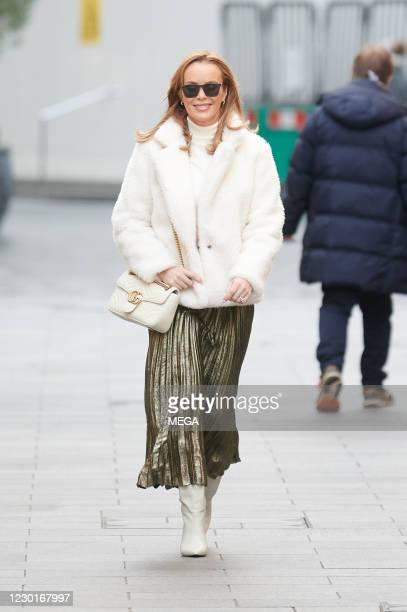 Amanda Holden seen leaving Global Radio on December 16, 2020 in London, United Kingdom.