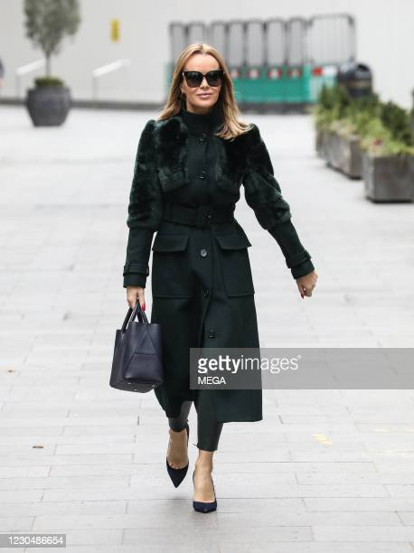 Amanda Holden seen leaving Global Radio Studios on January 8, 2021 in London, England.