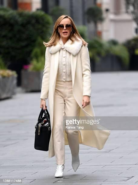 Amanda Holden seen leaving Global Radio Studios on November 27 2020 in London England