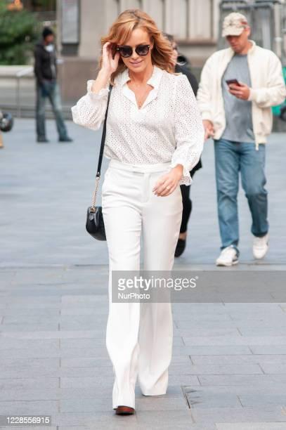 Amanda Holden seen leaving Global Studios Heart Radio on 17 September 2020