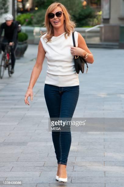 Amanda Holden seen leaving Global Studios on September 10 2020 in London England