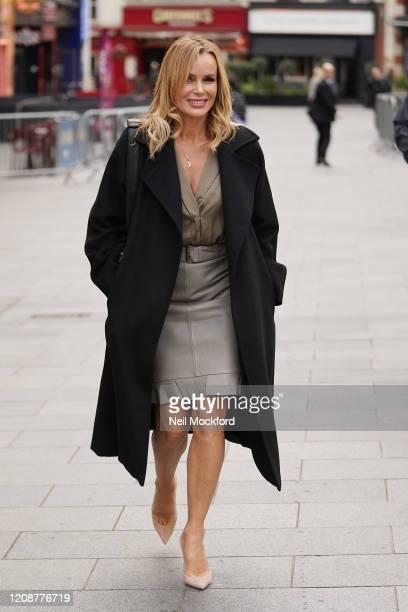 Amanda Holden seen leaving Heart Breakfast Radio Studios on February 26 2020 in London England