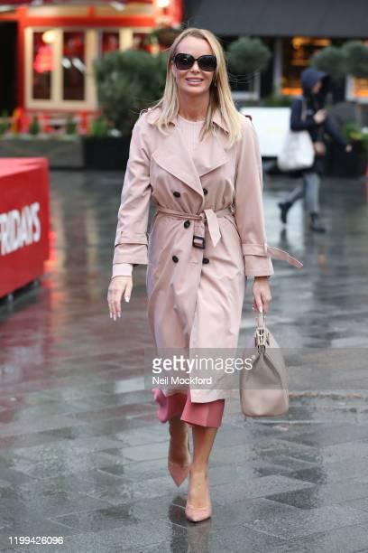 Amanda Holden seen leaving Heart Breakfast radio studios on January 14 2020 in London England