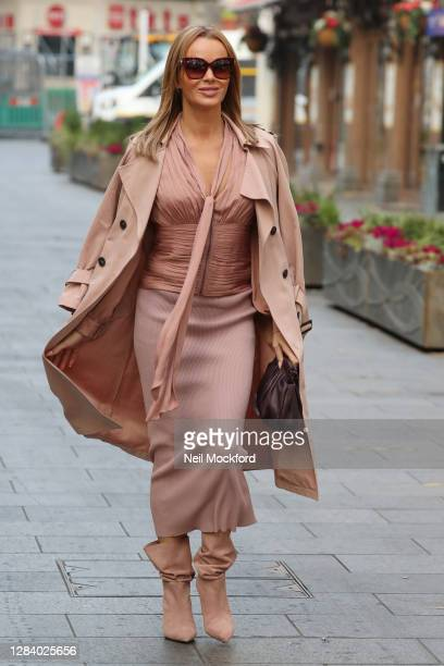 Amanda Holden seen leaving Heart Breakfast Radio Studios on November 05 2020 in London England