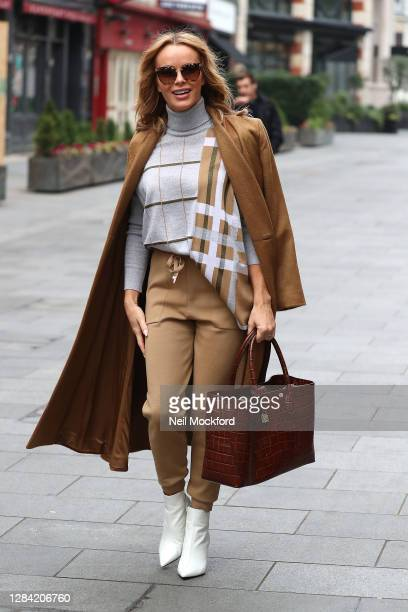 Amanda Holden seen leaving Heart Breakfast Radio Studios on November 06 2020 in London England