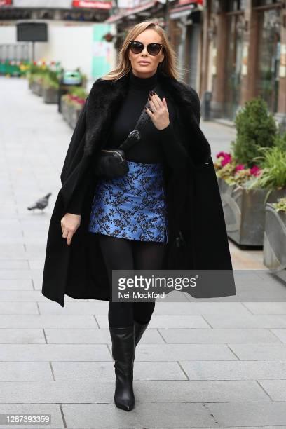 Amanda Holden seen leaving Heart Breakfast Radio Studios on November 24 2020 in London England