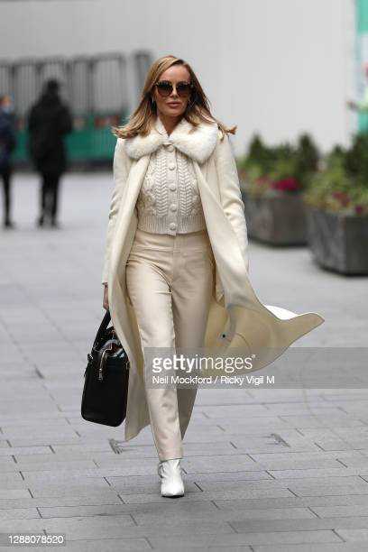 Amanda Holden seen leaving Heart Breakfast Radio Studios on November 27 2020 in London England