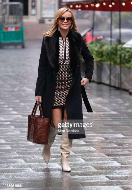 Amanda Holden seen leaving Heart Breakfast Radio Studios on October 05 2020 in London England