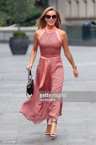 Amanda Holden seen leaving Heart Breakfast Radio Studios on September 07 2020 in London England
