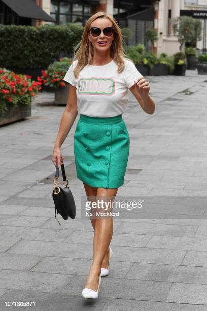 Amanda Holden seen leaving Heart Breakfast Radio Studios on September 08 2020 in London England