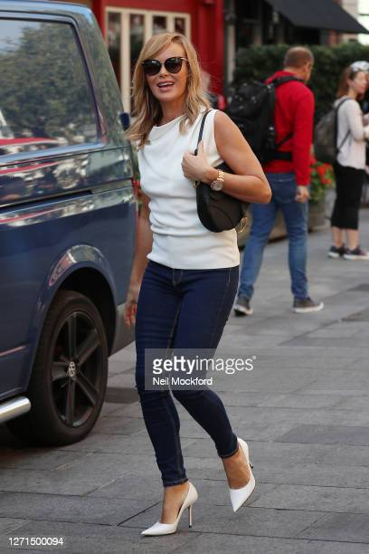 Amanda Holden seen leaving Heart Breakfast Radio Studios on September 09 2020 in London England