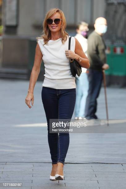 Amanda Holden seen leaving Heart Breakfast Radio Studios on September 09 2020 in London England