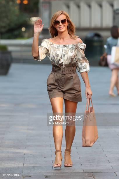 Amanda Holden seen leaving Heart Breakfast Radio Studios on September 14 2020 in London England