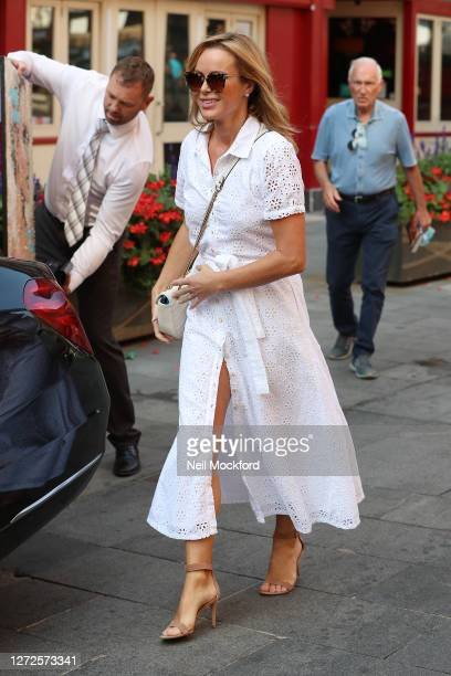 Amanda Holden seen leaving Heart Breakfast Radio Studios on September 15 2020 in London England