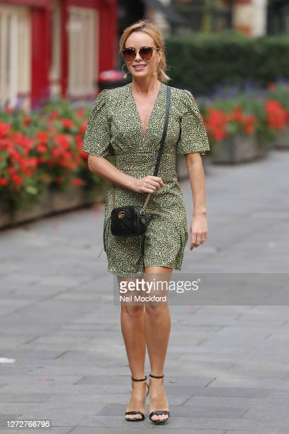 Amanda Holden seen leaving Heart Breakfast Radio Studios on September 16 2020 in London England