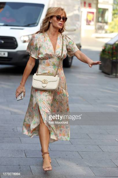 Amanda Holden seen leaving Heart Breakfast Radio Studios on September 18 2020 in London England