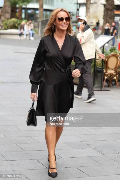 Amanda Holden seen leaving Heart Breakfast Radio Studios on September 23, 2020 in London, England.