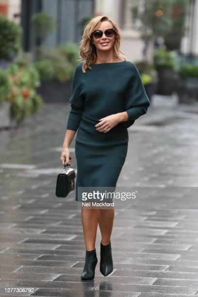 Amanda Holden seen leaving Heart Breakfast Radio Studios on September 29, 2020 in London, England.
