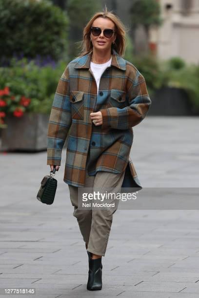 Amanda Holden seen leaving Heart Breakfast Radio Studios on September 30, 2020 in London, England.