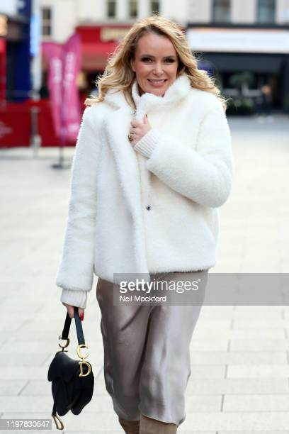Amanda Holden seen leaving Heart Radio Studios on January 06, 2020 in London, England.