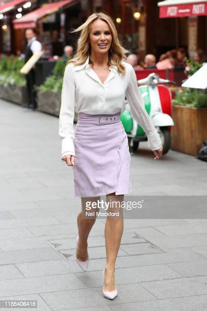 Amanda Holden seen leaving Heart Radio studios on June 12 2019 in London England