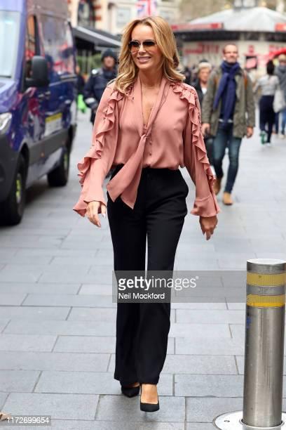 Amanda Holden seen leaving Heart radio studios on September 06 2019 in London England