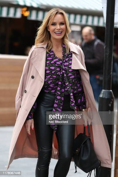 Amanda Holden seen leaving Heart Radio Studios on September 30, 2019 in London, England.