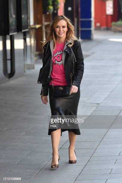 Amanda Holden seen leaving the Global studios after the Heart radio Breakfast show on March 27 2020 in London England