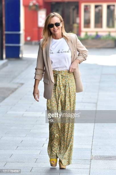 Amanda Holden seen leaving the Global studios after the Heart radio Breakfast show on April 09 2020 in London England