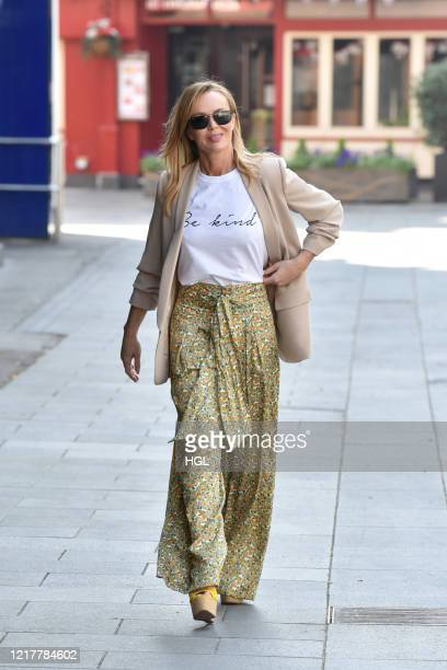 Amanda Holden seen leaving the Global studios after the Heart radio Breakfast show on April 09, 2020 in London, England.