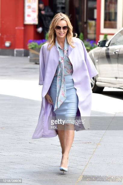 Amanda Holden seen leaving the Global studios after the Heart radio Breakfast show on April 14, 2020 in London, England.