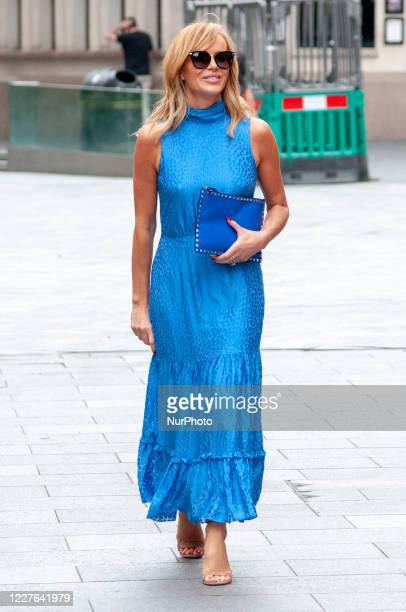 Amanda Holden seen leaving the Global studios after the Heart Radio Breakfast show on 16 July 2020 in London, England.