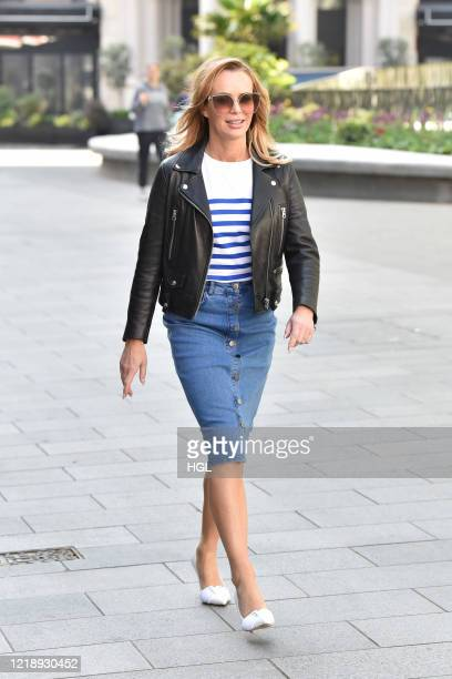 Amanda Holden seen leaving the Global studios the Heart Radio Breakfast show on April 15 2020 in London England
