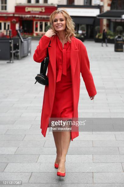 Amanda Holden seen leaving the Heart Breakfast Radio Studios on March 09 2020 in London England