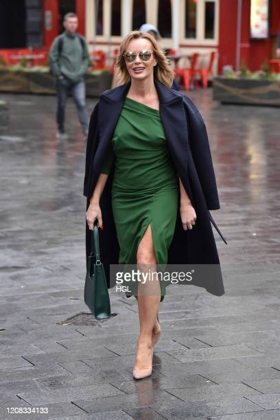 Amanda Holden seen leaving the Heart Radio studios on February 24 2020 in London England