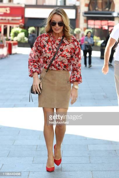 Amanda Holden seen leaving the Heart Radio Studios on June 17 2019 in London England