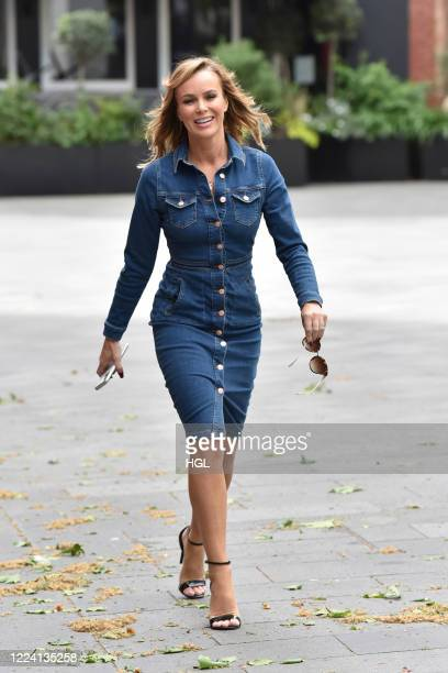 Amanda Holden seen outside the Global Radio Studios on May 11 2020 in London England