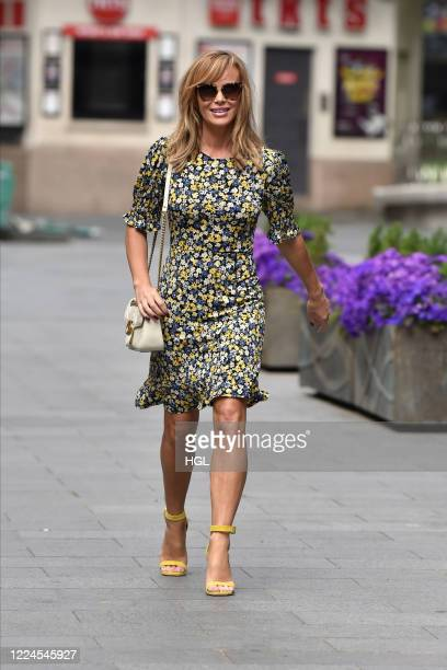 Amanda Holden seen outside the Global Radio Studios on May 13, 2020 in London, England.