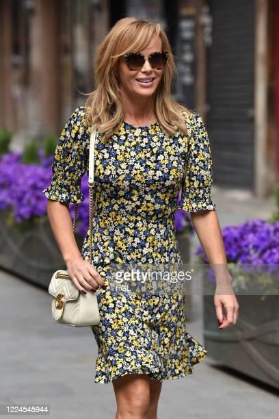 Amanda Holden seen outside the Global Radio Studios on May 13 2020 in London England