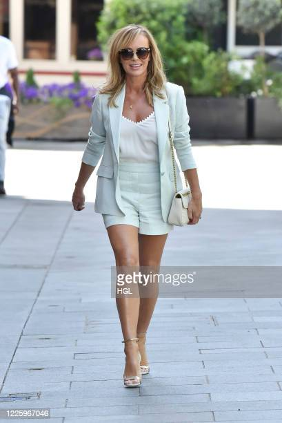 Amanda Holden seen outside the Global Studios on May 20, 2020 in London, England.