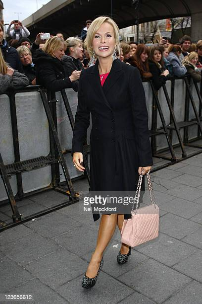 Amanda Holden sighted arriving at The HMV Hammersmith Apollo for Britains Got Talent Auditions Day 2 on January 5 2011 in London England