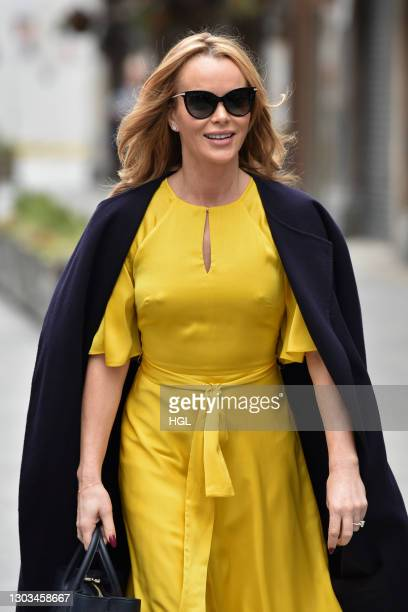Amanda Holden sighting on February 22, 2021 in London, England.