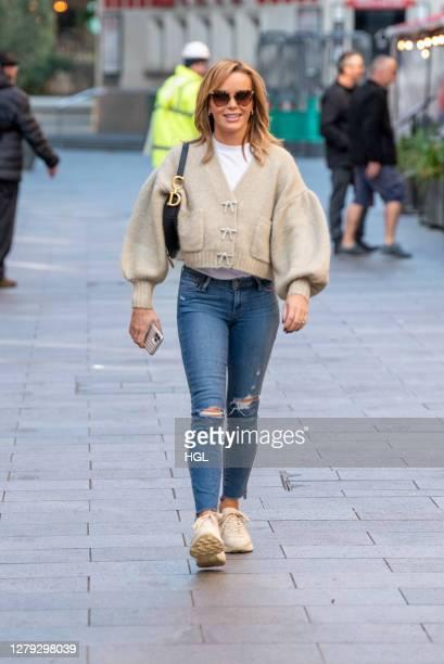 Amanda Holden sighting on October 09, 2020 in London, England.
